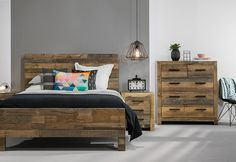 Vintage 4 Piece Tall Chest Queen Bedroom Suite | Super A-Mart