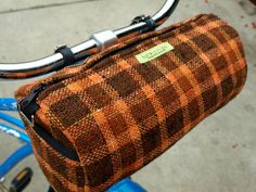 This bag keeps belongings safe while riding & converts into a shoulder bag... WINSTON Handlebar Bike Bag by BeatriceHoliday