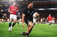 Codie Taylor went over inside the opening few minutes to give New Zealand the perfect star. British And Irish Lions, All Blacks Rugby, New Zealand, Running, Stars, Keep Running, Why I Run, Sterne