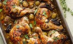 Chicken Savoy with Olives.