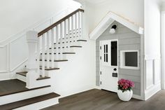 Under Stairs Playroom, Under Stairs Playhouse, Build A Playhouse, Basement Stairs, Basement Bedrooms, Basement Ideas, Kids Basement, Basement Bathroom, Attic Playroom
