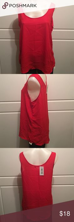 Size L Lulu e Bebe Red Tank Top New with tags. lulu e bebe Tops Tank Tops