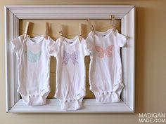 Simple Stenciled Baby Onesie Idea