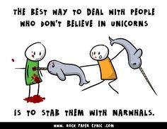 The Best Way to Deal With People Who Don't Believe in Unicorns - Awesome Comics