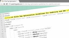 15 Title Tag Optimization Guidelines For Usability and SEO - Usability Geek
