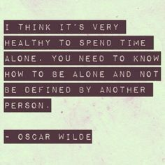 Learning to be happy being alone