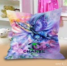 Chanel Art butterfly Pillow Cases