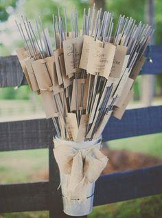 Bodas con detalle - Blog de bodas con ideas para una boda original: Pon bengalas en tu boda y que brille el amor