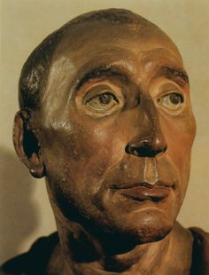 Donatello - Bust of Niccolò da Uzzano,  1430s. Polychrome terracotta, height 46 cm. Museo Nazionale del Bargello, Florence (1684×2217)