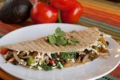 Jalapeño Chicken Quesadilla: A little meat and a ton of veggies go a long way in this recipe for a jalapeño chicken quesadilla.