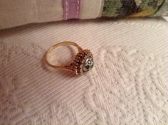 1950's 18 kt gold with emeralds and diamonds set in platinum