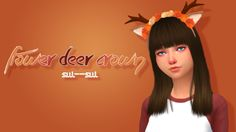 """sul–sul: """" Flower Deer Crown Can you tell how obsessed I am with this new model? She's a smol deer bb now. Anyways, inspired by autumn this cute flower deer crown comes in a few swatches with room to recolor! :) Let me know if there are any..."""