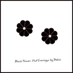 Flowers can be edgy when they are cut from 2 mm reflective acrylic and combined with stainless steel studs. Punk-meets-pretty DAKINI earrings. DKK 125 / EUR 16 / USD 18 at www.dakini.nu. Link in profile. #upcoming #handmade #jewelrydesign #onlineshop #worldwideshipping #blackflower #blackjewelry #blackisbeautiful #daisyearrings #rockchick #ladypunk #earrings #smykker #smykkedesign #smykkekunstner #modernesmykker