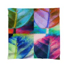 img  Abstract Leaf Pattern Scarf By mae-glenn $48.00  This abstract pattern began as an original photograph of a leaf from a sea grape plant. The design explores the variety of color combinations coming from the bright light and shadow areas of the smooth, almost oval shaped leaf, and the background. There are bright reds, pinks, lavenders, aqua and dark blues, orange and dark and light greens. The veins and stem of the leaf add dimension and colors.