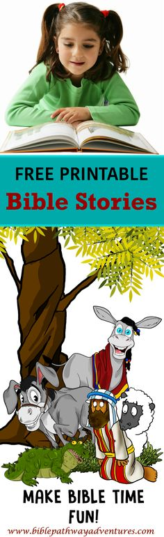 FREE printable Bible stories and coloring pages. More