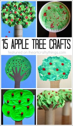 15 Fabulous Apple Tree Crafts for Kids. Fun kids craft for the Fall season.
