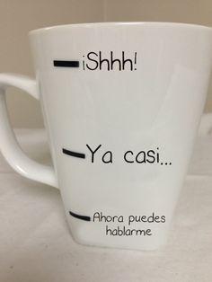 taza de café niveles