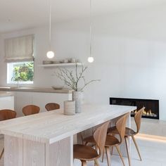 Untitled adds time-honoured materials to beachside home. New Architecture, Minimal Home, Zaha Hadid Architects, Dezeen, Design Agency, Interior, Minimalism, Table, Furniture