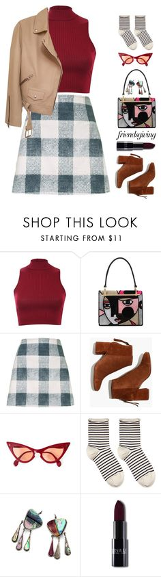 """""""Nicole"""" by brie-the-pixie ❤ liked on Polyvore featuring Pilot, Prada, Motel, Madewell, Hansel from Basel and AllSaints"""