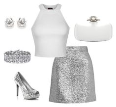 """""""party"""" by j-liebichova on Polyvore featuring Topshop, Ally Fashion, Oscar de la Renta and Palm Beach Jewelry"""