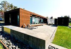 Traumhaftes Ferienhaus in Dänemark mit minimalistischer Architektur, unweit von der Ostsee.