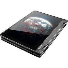 "Lenovo - ThinkPad Yoga 11e 2-in-1 11.6"" Touch-Screen Chromebook - Intel Celeron - 4GB Memory - 16GB eMMC Flash Memory - Graphite black, 20GE0002US"