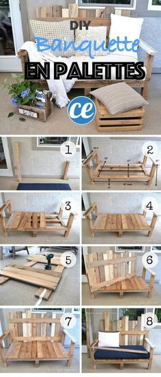 8 Amazing DIY Projects to Repurpose Pallets You can find Pallet sofa and more on our Amazing DIY Projects to Repurpose Pallets Diy Sofa, Diy Pallet Sofa, Pallet Patio, Diy Pallet Projects, Woodworking Projects, Outdoor Pallet, Garden Pallet, Pallet Benches, Pallet House