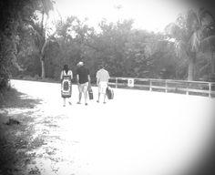 Walk down the beach road
