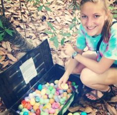 An Easter egg cache. You have to search through all the eggs to find the log! (geocachingkaity on Twitter) #IBGCp