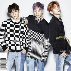 """EXO-CBX Japanese debut mini album covers for """"Girls""""  Track list:  1.Girl Problems  2. Ka-CHING  3. Hey Mama  4. Tornado Spiral  5. Miss You  6. Diamond Crystal  BAEKHYUN NEEDS TO STOP WITH HE BLAZERS ITS UNHEALTHY FOR ME"""