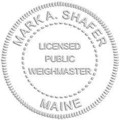 Image of Maine Weighmaster Seal for an embosser