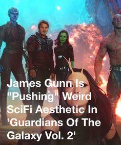"James Gunn Is ""Pushing"" Weird SciFi Aesthetic In 'Guardians Of The Galaxy Vol. 2' - Movie Pilot https://apple.news/AIGJbf3teRPGkaPjmeqmu8w #realmkomiks #scifi #guardiansofthegalaxyvol2"