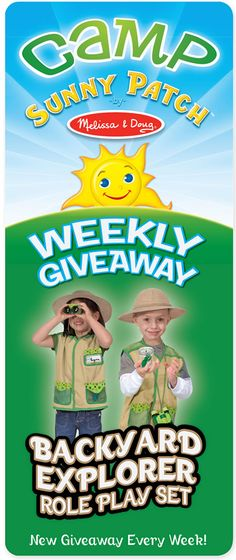 #CampSunnyPatch #Giveaway (ends 7/31) @MelissaAndDoug Backyard Explorer Role Play Costume!