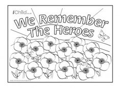 1914 - 1918 Print this poster commemorating the centenary of the First World War. Your child can colour in the poppies red, blue or any colour they like! They can also colour in the numbers and the words in the title. Remembrance Day Posters, Remembrance Day Activities, Remembrance Day Poppy, Poppy Coloring Page, Colouring Pics, Coloring Pages, Memorial Day Quotes, Poppy Craft, Armistice Day