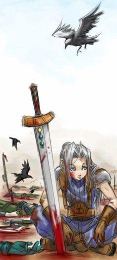 Pre-Final Fantasy VII Crisis Core Sephiroth out in Wutai by Crimson Sun
