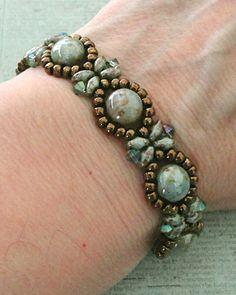 Linda's Crafty Inspirations: Bracelet of the Day: Sunflower Bracelet - Chalk Lumi Green
