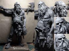 Viking 2 - plasticine sketch, Scibor Teleszynski on ArtStation at https://www.artstation.com/artwork/viking-2-plasticine-sketch