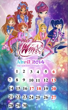 ¡¡Calendario Poder de Winx Club de Abril!! http://poderdewinxclub.blogspot.com.ar/2014/04/calendario-poder-de-winx-club-de-abril.html