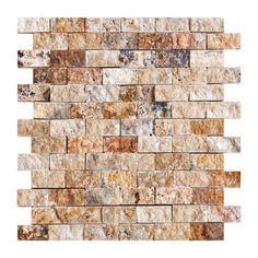 For our new bath - Scabos 1 X 2 Split-Faced Travertine Brick Mosaic Tile