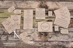 Papeterie vintage Kraftpapier von Zweihörnchen