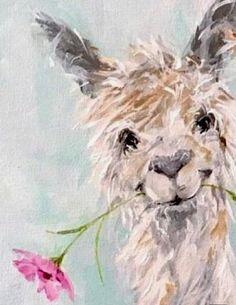 Llama painting - Alpaca www susanpepedesi – Llama painting Animal Paintings, Animal Drawings, Art Paintings, Alpacas, Painting Prints, Painting & Drawing, Llama Arts, Llama Llama, Whimsical Art
