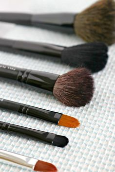 Cleaning your makeup brushes is easy to do with a couple of household ingredients. It's a good idea to clean makeup brushes at least once per month.