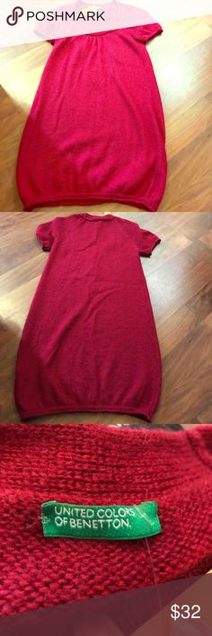 UCOB sweater dress size small Dark red united colors of Benetton small sweater dress United Colors Of Benetton Dresses