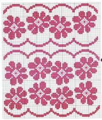 Resultado de imagem para bordados punto cruz flores