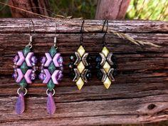 Arrow® - Bijoux Components - Svět korálků Beaded Jewelry Patterns, Thalia, Bead Earrings, Arrow, Shapes, Beads, Jewerly, Projects, Twin