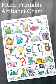 Ways to Use an Alphabet Chart Grab this FREE printable alphabet chart and learn 6 ways to use it!Grab this FREE printable alphabet chart and learn 6 ways to use it! Preschool Literacy, Preschool Letters, Preschool Printables, Early Literacy, Literacy Activities, Abc Printable, Free Alphabet Printables, Alphabet Games For Kindergarten, Teaching Resources