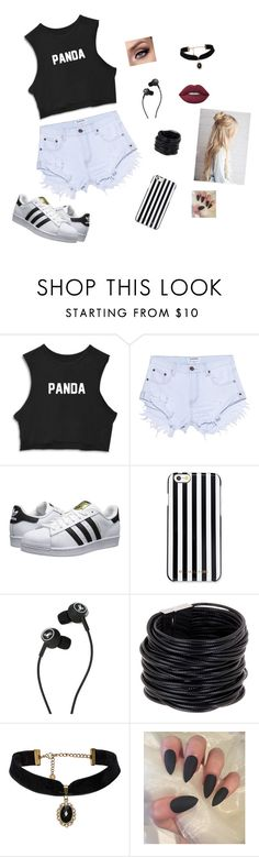"""ri"" by dani-granco on Polyvore featuring moda, One Teaspoon, adidas Originals, MICHAEL Michael Kors, Marshall, Saachi e Lime Crime"