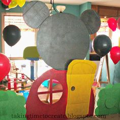 Taking Time To Create: Mickey Mouse Clubhouse Birthday Party {Lots of Birthday Party Decorating Ideas}
