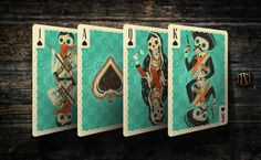 Fuego Playing Cards: Spades - Court Cards | more here: http://playingcardcollector.net/2015/06/09/fuego-playing-cards-by-cellar-window/