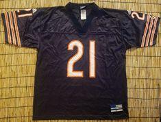 4274b690f Mens Vintage NFL Football Jersey Chicago Bears  21 Adidas Retro Navy Blue  Medium  adidas  ChicagoBears